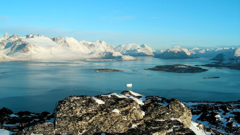 Paisaje de Groenlandia meridional. Wikimedia Commons