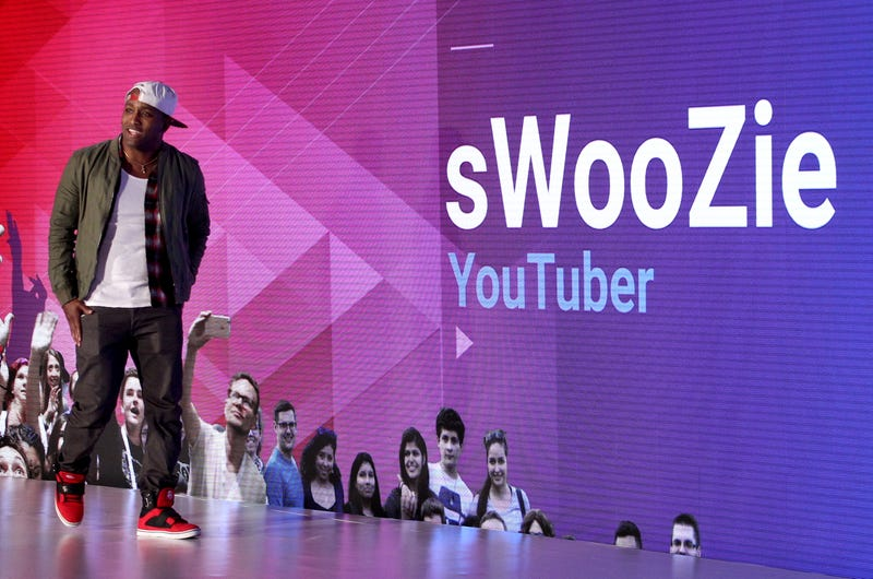 YouTuber sWooZie speaks onstage at the YouTube Lounge during VidCon in Anaheim, Calif., in June 2016.FilmMagic/FilmMagic for YouTube