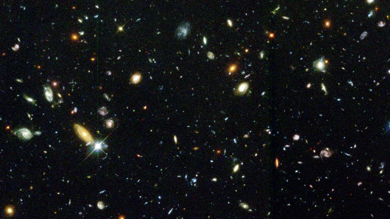 Distant galaxies as imaged by the Hubble Space Telescope