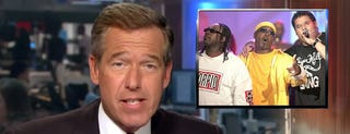 Illustration for article titled News anchor Brian Williams raps Rapper's Delight in awesome supercut