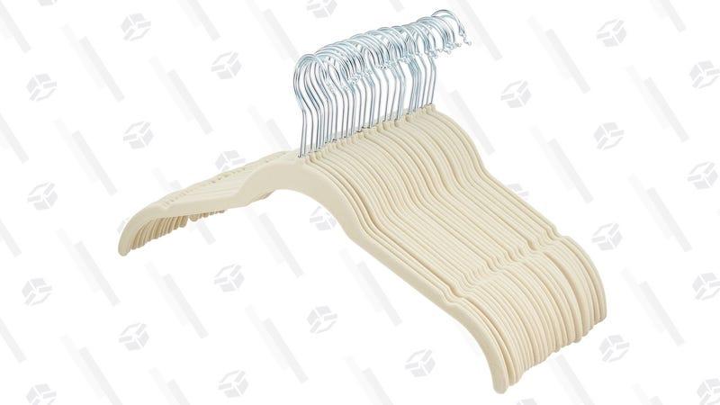 AmazonBasics 30-Pack Velvet Shirt/Dress Hangers | $10 | Amazon