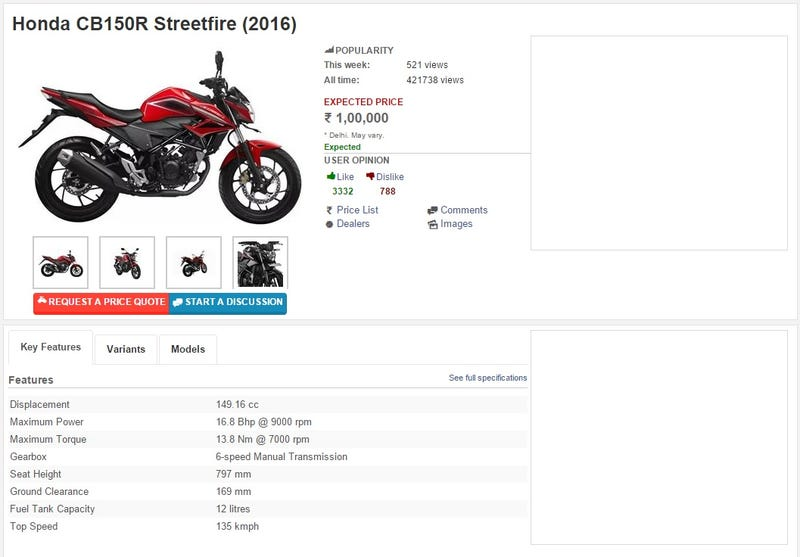 Illustration for article titled Honda Cbr 150r Streetfire Indonesia Map
