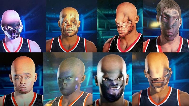 Illustration for article titled NBA 2K15's Face Technology Fails Miserably, Creates Monsters