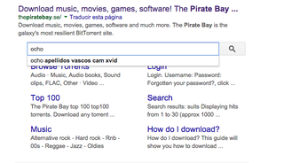 Illustration for article titled ¿Quieres buscar torrents en Pirate Bay? Google te lo pone fácil