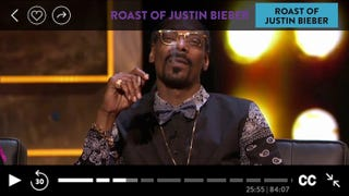 Illustration for article titled Snoop Dogg Gave Martha Stewart a Contact High at the Bieber Roast