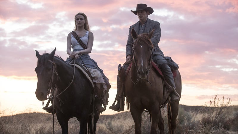 Evan Rachel Wood and James Marsden star in Westworld
