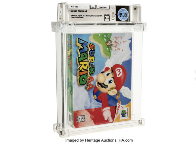 Unopened Super Mario 64 Cartridge Sells for Record $1.56 Million