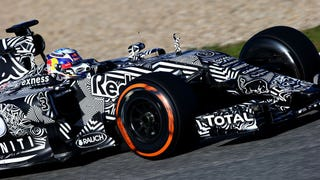 Illustration for article titled Red Bull Should Keep The Rad Zebra Camo Stripes As A Livery