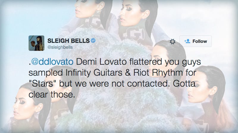 Illustration for article titled Sleigh Bells Accuses Demi Lovato of Sampling Two of Their Songs Without Permission