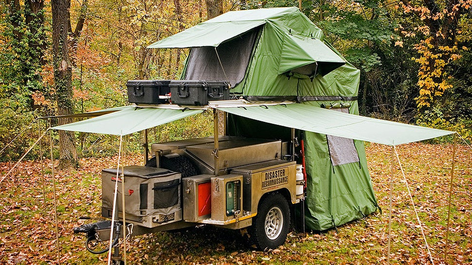 & A Tiny Pop-up Trailer Hiding All Your Camping Needs