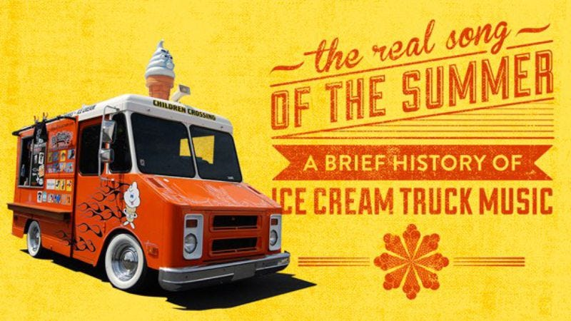 Illustration for article titled Read This: A brief history of ice cream truck music