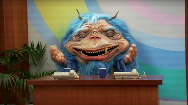 comedy central adds blue alien to late night with the gorburger show