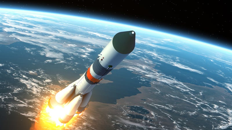 Illustration for article titled Could We Use Ground-Based Lasers To Propel Rockets Into Space?