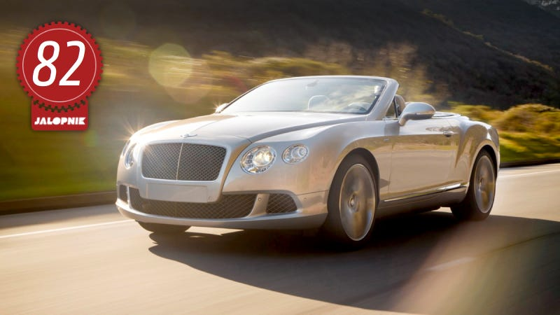 Illustration for article titled 2013 Bentley Continental GT Speed Convertible: The Jalopnik Review