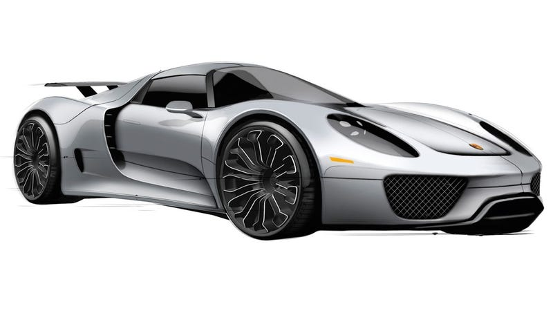 Illustration for article titled The Porsche 918 Spyder is now a plug-in hybrid reality