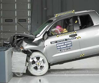 """Illustration for article titled Man """"Unintentionally"""" Accelerates Recalled Truck Into Toyota Dealer Showroom"""