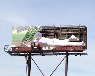 Illustration for article titled The Kansas City Royals' New Billboard Is Pretty Clever