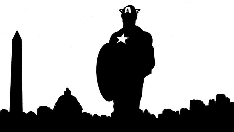 A portion of David Mack's variant cover for Captain America #1.