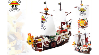 Illustration for article titled The Thousand Sunny From One Piece In Shiny LEGO Form