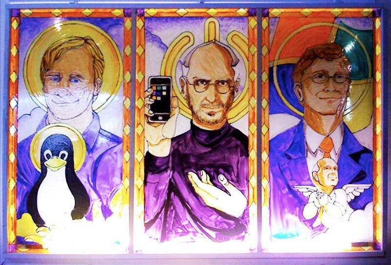 Illustration for article titled The Holy Software Trinity: Torvalds, Jobs and Gates