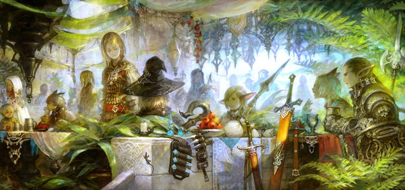 Illustration for article titled Final Fantasy XIV Concept Art Is Dying To Be Your Desktop