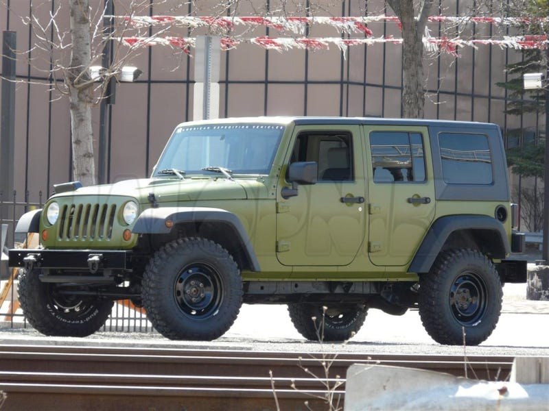 Aev Working On Jeep Wrangler J8 Unlimited Military Package