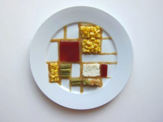 Illustration for article titled How Famous Artists Would Arrange Their Thanksgiving Plates