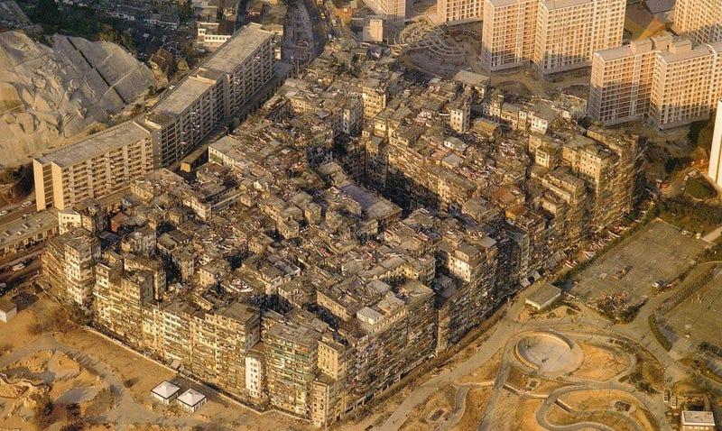 Imagen aérea de Kowloon. Wikimedia Commons