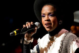 Singer Lauryn Hill performs during the Wailers' 30th-anniversary performance at the Apollo Theatre Nov. 29, 2014, in New York City.Noam Galai/Getty Images