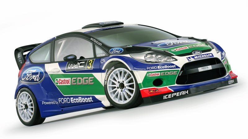 Illustration for article titled Ford's 2012 WRC Fiesta Gets A New Coat Of Paint