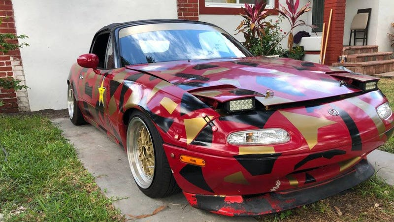 At $2,500, Is This Custom 1992 Mazda MX-5 Miata a Book You
