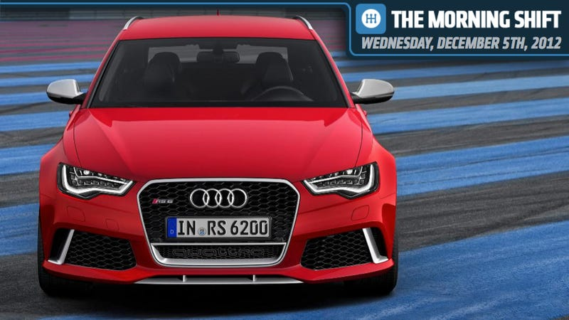 Illustration for article titled Audi's RS6 Avant Destroys Worlds, Subaru Looks At Indiana, And Mark Fields Changes History