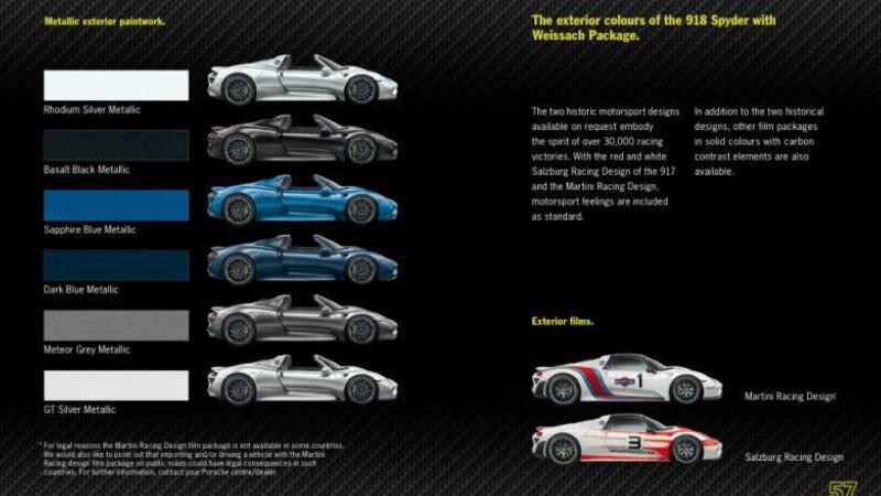 leaked brochure shows off porsches 800 horsepower 78 mpg hybrid 918 spyder - Porsche 918 Spyder Engine