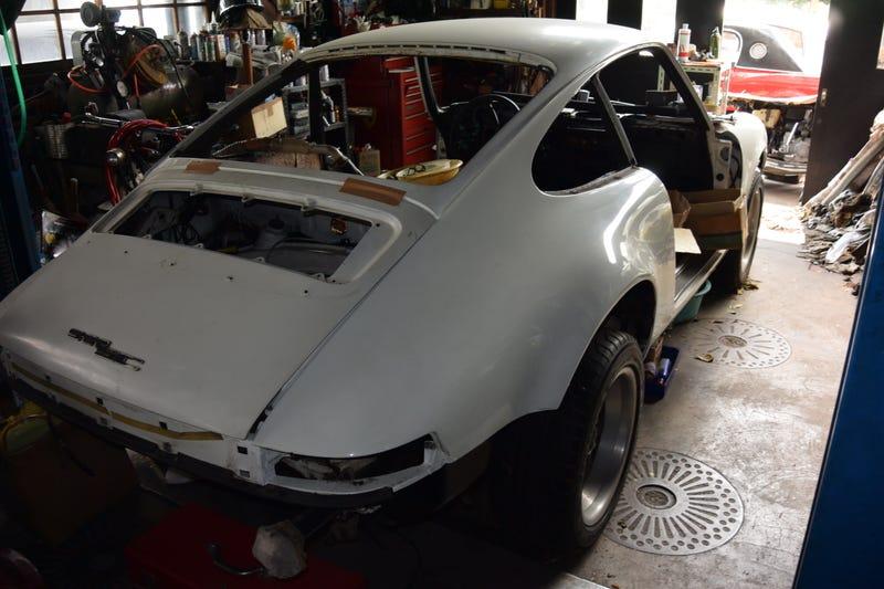 (Porsche in progress, in Back Puss Yard)