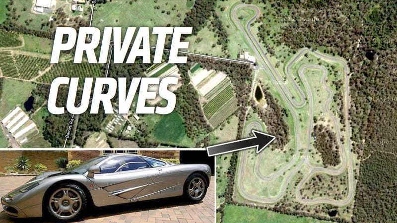 Illustration for article titled When A Millionaire Can't Drive Legally, He Can Build A Private Racetrack