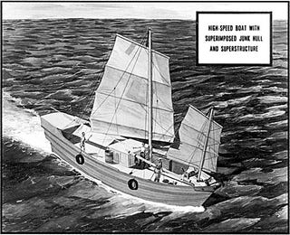 Illustration for article titled Camouflaged CIA Speed Boat Looks Like Junk, Runs Like Jet