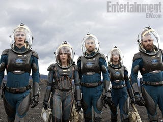 Illustration for article titled Gorgeous new Prometheus photos showcase the insane detail on each space suit