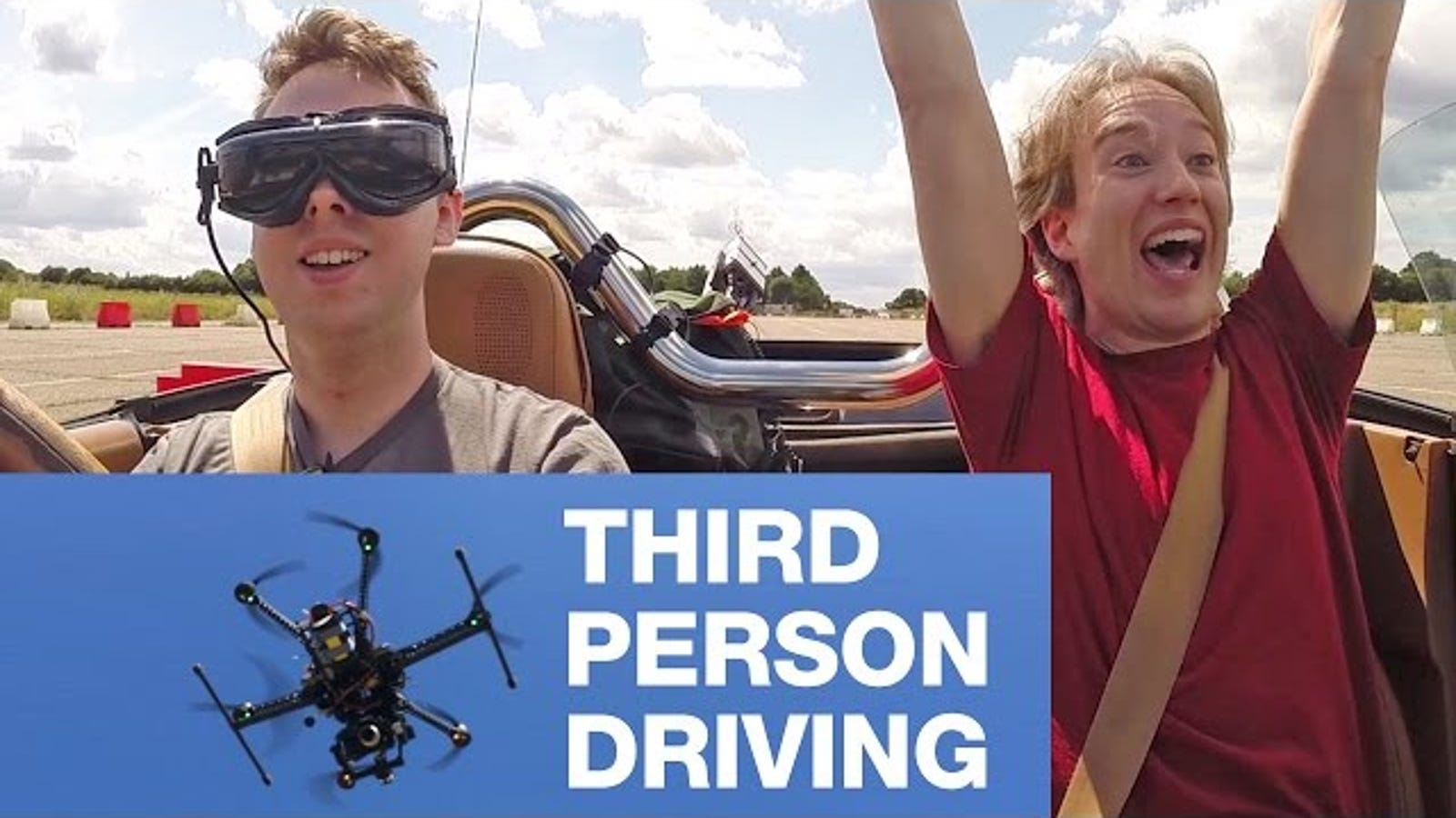 This Is What It's Like to Drive a Car From a Drone's Point of View