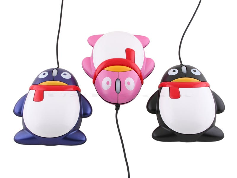 Illustration for article titled USB Penguin Mouse is Sadly Not a Genetic Experiment