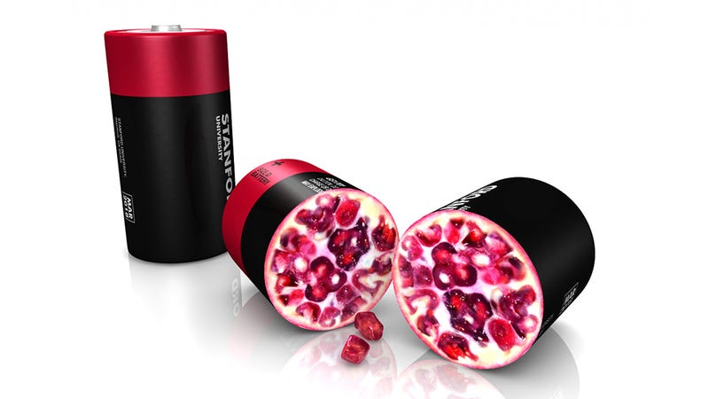 Illustration for article titled Pomegranate-Inspired Batteries Hold 10x The Juice