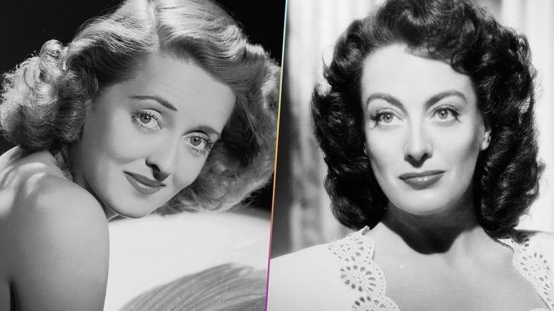 Left: Photo of Bette Davis via John Kobal Foundation/Getty Images. Right: Photo of Joan Crawford by Bert Six/John Kobal Foundation/Getty Images. Graphic: Nick Wanserski