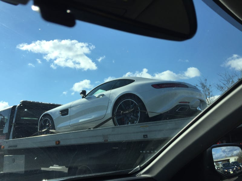 Illustration for article titled 2016 Mercedes AMG GT S spotted this morning