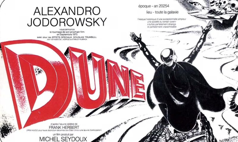 Illustration for article titled The Closest You'll Ever Come to Watching Jodorowsky's Lost Dune Movie