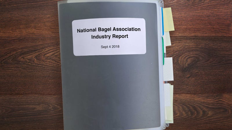Illustration for article titled No Big News For Bagels: The Bagel Industry Just Issued Its Daily 600-Page Report On The State Of The Bagel Industry And Nothing Major Has Changed Since Yesterday