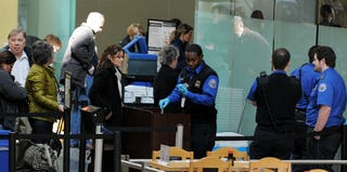 A TSA security checkpoint at Ronald Reagan National Airport (Jewel Samad/AFP/Getty Images)
