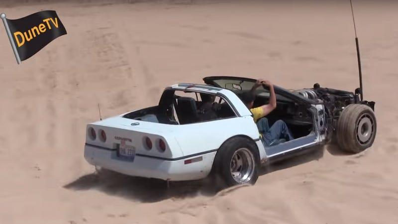 This Stripped Down C4 Corvette Annihilates The Sand Dunes