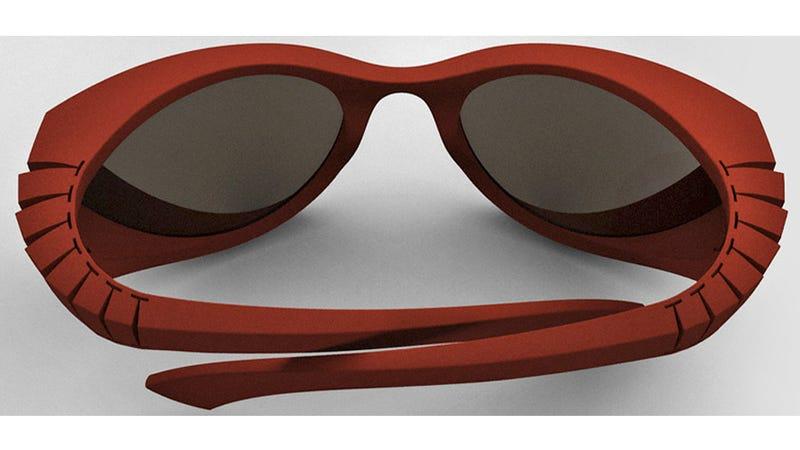 Illustration for article titled Hingeless Sunglasses Flex Like Your Spine