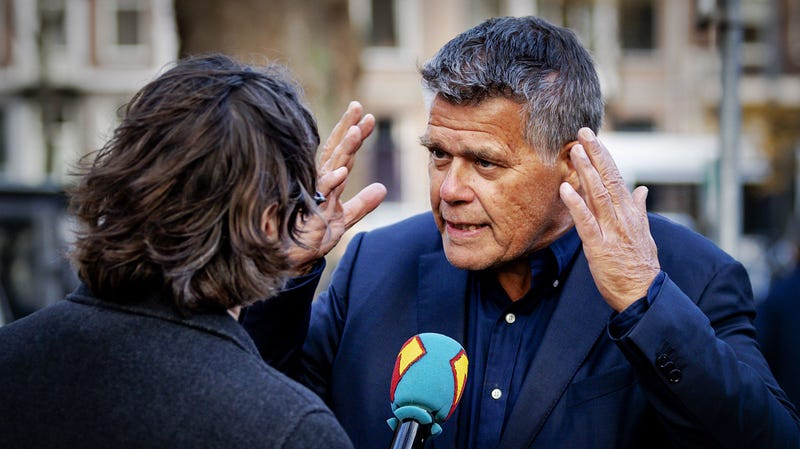 Emile Ratelband outside an Amsterdam court on Monday
