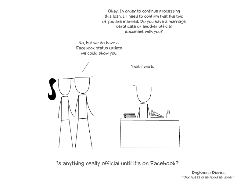 Illustration for article titled It's Not Official Until It's Facebook Official