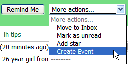 Illustration for article titled Create Gcal events from Gmail